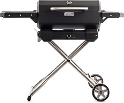 Masterbuilt MB20040722, Black Portable Charcoal Grill with Cart