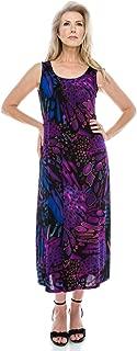 Jostar Women's Stretchy Long Tank Dress Print