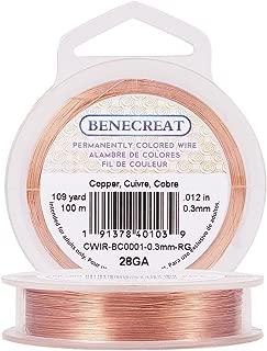 BENECREAT 28-Gauge Tarnish Resistant Copper Wire, 328-Feet/109-Yard