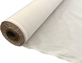 """AK TRADING CO. AK Trading 60"""" Wide Natural Muslin, 100% Cotton Fabric, Unbleached-5 Yards"""