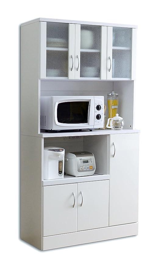 誤解させる集めるガラガラ食器棚 NEW MIRANO kitchen series ワイド食器棚 1890 鏡面仕上げ
