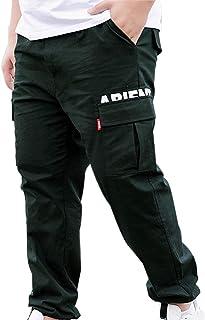 XYXIONGMAO Hip Hop Cargo Pants Mens Joggers Streetwear Casual Plus Size Sports Overalls Multi-Pocket Loose Harem Pants
