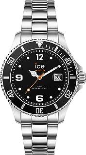 Ice-Watch - Ice Steel Black Silver - Montre Noire pour Femme avec Bracelet en Metal - 017323 (Small)
