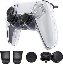 Capa para controle de PS5, capa protetora de policarbonato MENEEA para controle de PS5, kit de acessórios de proteção de p...
