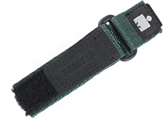 WOMENS 12-16MM BLACK GREEN HOOK & LOOP NYLON IRONMAN EXPEDITION FAST WRAP SPORT WATCH BAND STRAP
