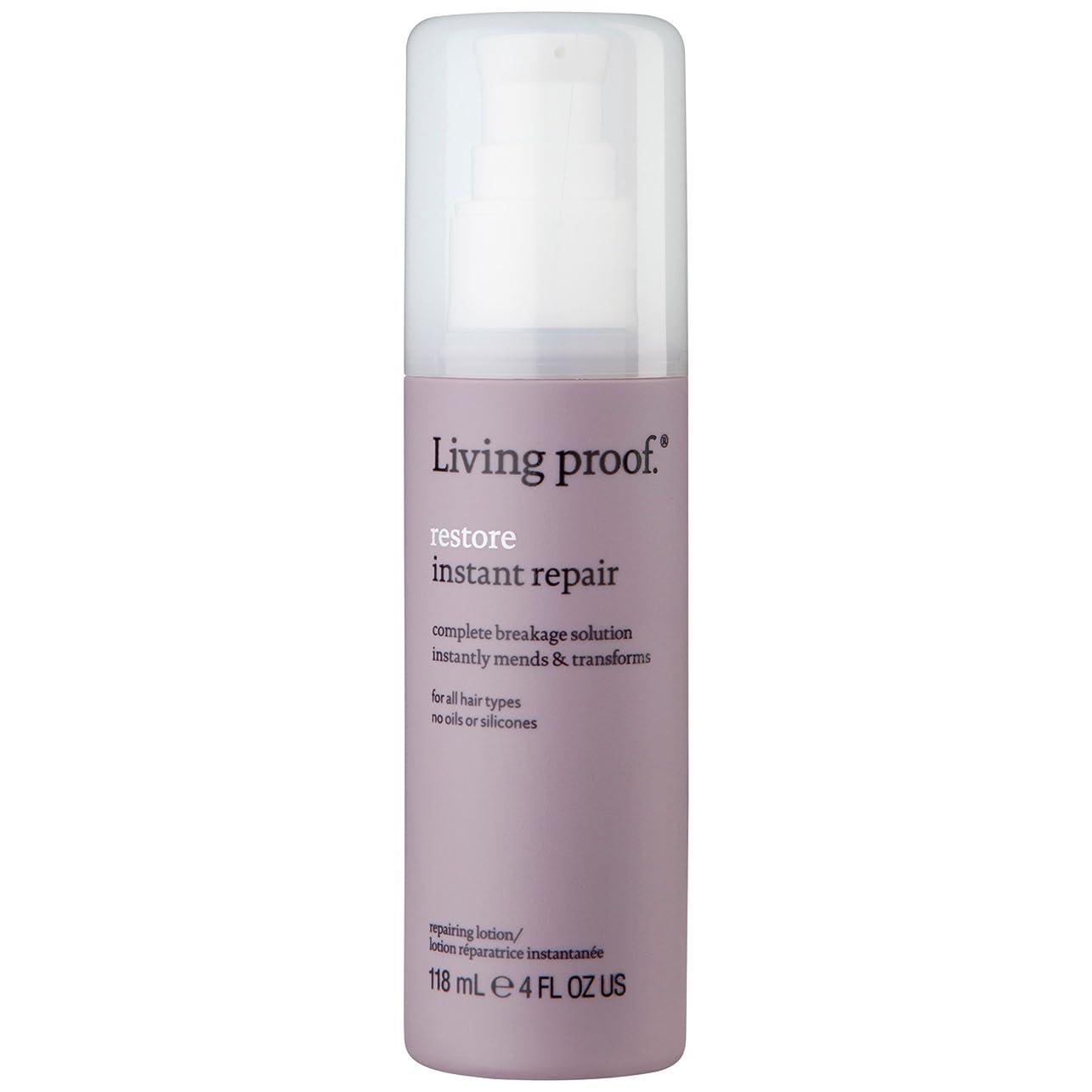 貼り直す酸素主流生きている証拠は、ターゲット修理ヘアクリーム118ミリリットルを復元します (Living Proof) (x6) - Living Proof Restore Target Repair Hair Cream 118ml (Pack of 6) [並行輸入品]