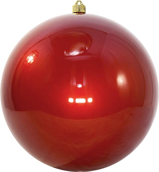 Christmas By Krebs Giant Commercial Shatterproof UV Resistant Plastic Christmas Ball Ornament Wedding Party Event Decor 12 300mm Candy Red 2 Pieces
