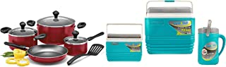 Prestige 8pc Cookware Set + Pinnacle Assorted Colors Cooler (PR21952+TPX7005)