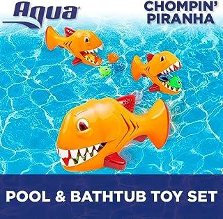 Aqua Chompin' Piranha, 5 Piece Set, Toss, Dive & Retrieve, Pool and Bathtub Toy, Ages 5 and Up