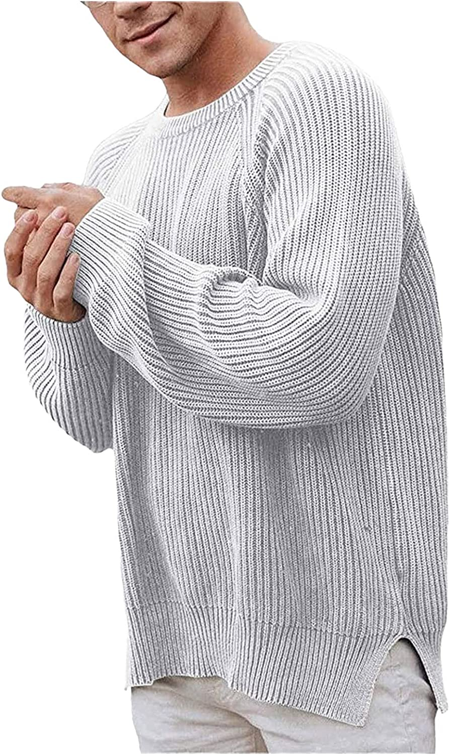 2021 Men's Autumn And Winter O Neck Long Sleeve Pullover Solid Cardigan Sweater Blouse