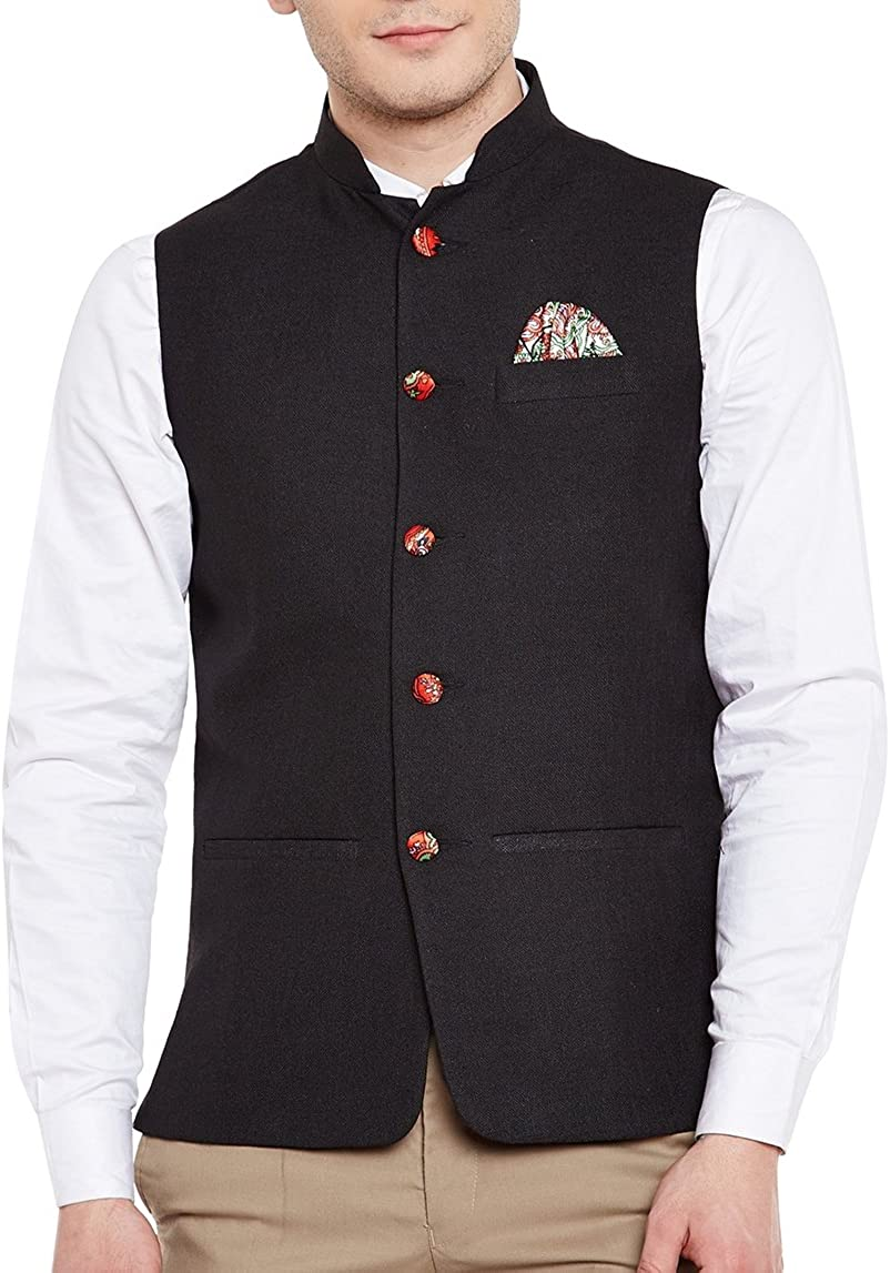 WINTAGE Men's Linen Las Vegas Mall Blend Bandhgala Party Waistcoat Special price Nehru Jacket