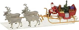 Preiser 30399 Christmas Sleigh Includes Santa, Packages & 4 Reindeer HO Model Figure