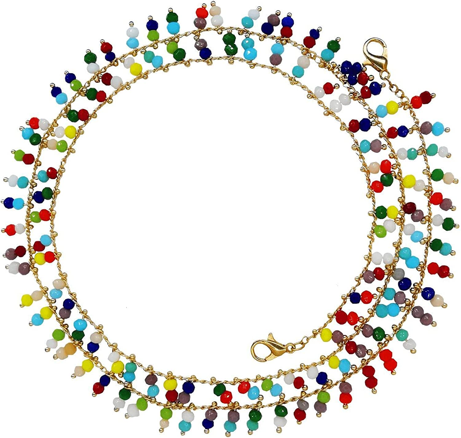 Bohemia colorful beaded glasses Rare chain lanyard Our shop OFFers the best service mask wo