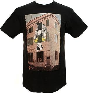 Disney Men's Donald Duck Wheatpaste Painted Mural T-shirt