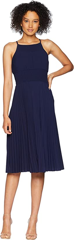 Catalina Crepe Pleated and Smocked Sun Dress