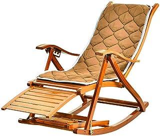 noyydh كرسي هزاز كرسي الخيزران الروطان كرسي كورتيارد نغمة كرسي، قابل للطي، قابل للتعديل خمس سرعات، مناسبة للبالغين والمسنين