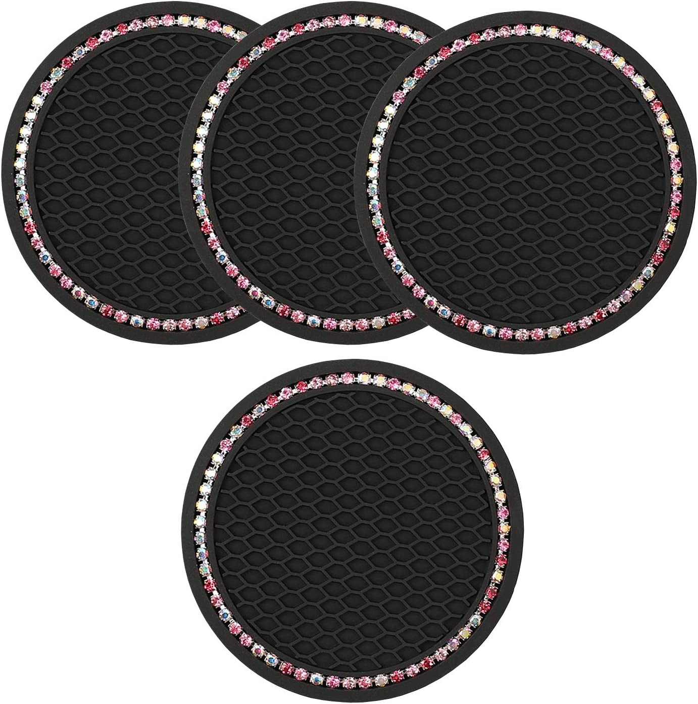 Cup Holder Coasters Limited time cheap sale for Car Bling 4 Bargain sale Pack Diamond Sparkle Ac