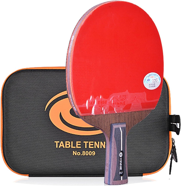 LINGOSHUN Juego de Raquetas de Ping Pong de 12 Estrellas,Goma Aprobada por la ITTF,Raquetas de Tenis de Mesa Profesionales para Nivel Intermedio Y Avanzado/Single/Short handle