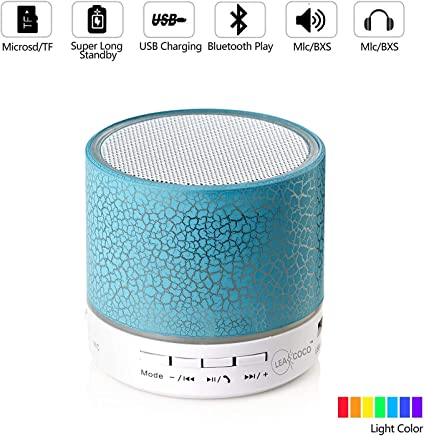 Mini Wireless Portable LED Bluetooth Speaker for iPhone iPod and Android System Equipment(Blue)