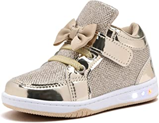 51c3dc1e0caf YILAN YL313 Toddler Glitter Shoes Girl's Flashing Sneakers With Cute Bowknot