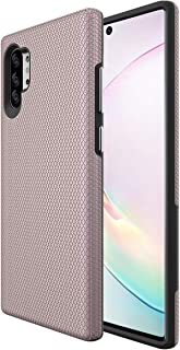 Ownest Compatible Samsung Galaxy Note 10+ Plus/5G /Pro Case(2019) Non-Slip Anti-Fall Dual Layer 2 in 1 Hard PC TPU with Protection Slim Lightweight for Samsung Note 10+ Plus/5G /Pro-Rose Gold