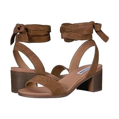 Steve Madden Adrianne Heeled Sandal (Chestnut Suede) Women