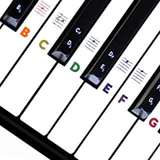 Piano Keyboard Stickers for Beginners 88/76/61/54/49/37...