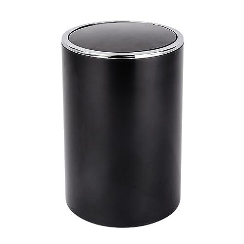 Wenko 22558100 Poubelle Inca, Noir, ABS, 18,5 x 18,5 x 26 cm