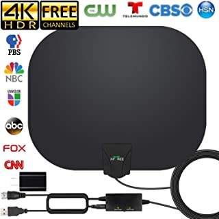 2020 Newest TV Antenna, HD Indoor Digital HDTV Antenna 180 Miles Long Range Antenna with..
