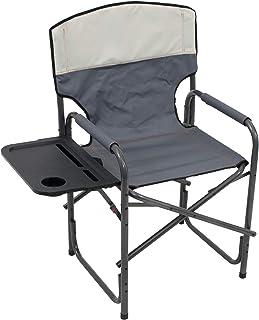 Rio Gear Broadback Compact Fold Design Directors Outdoor Folding Chair - Slate/Putty