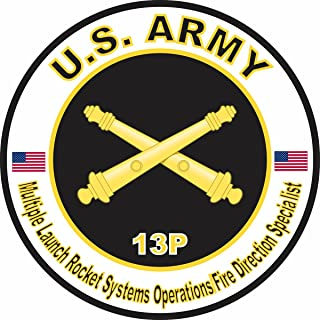 MilitaryBest US Army MOS 13P Multiple Launch Rocket Systems Operations Fire Direction Specialist 5.5 Inch Decal
