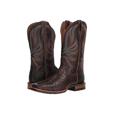 Ariat Range Boss (Wildhorse Chocolate/Gunfire Gray) Cowboy Boots