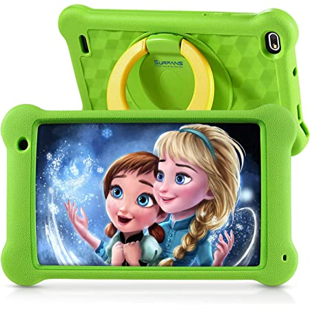 Surfans Tablet per bambini, 7 pollici, Android 10.0, 2GB+32 GB, Display IPS HD, Tablet Android WiFi per Ragazzi Ragazze, Verde