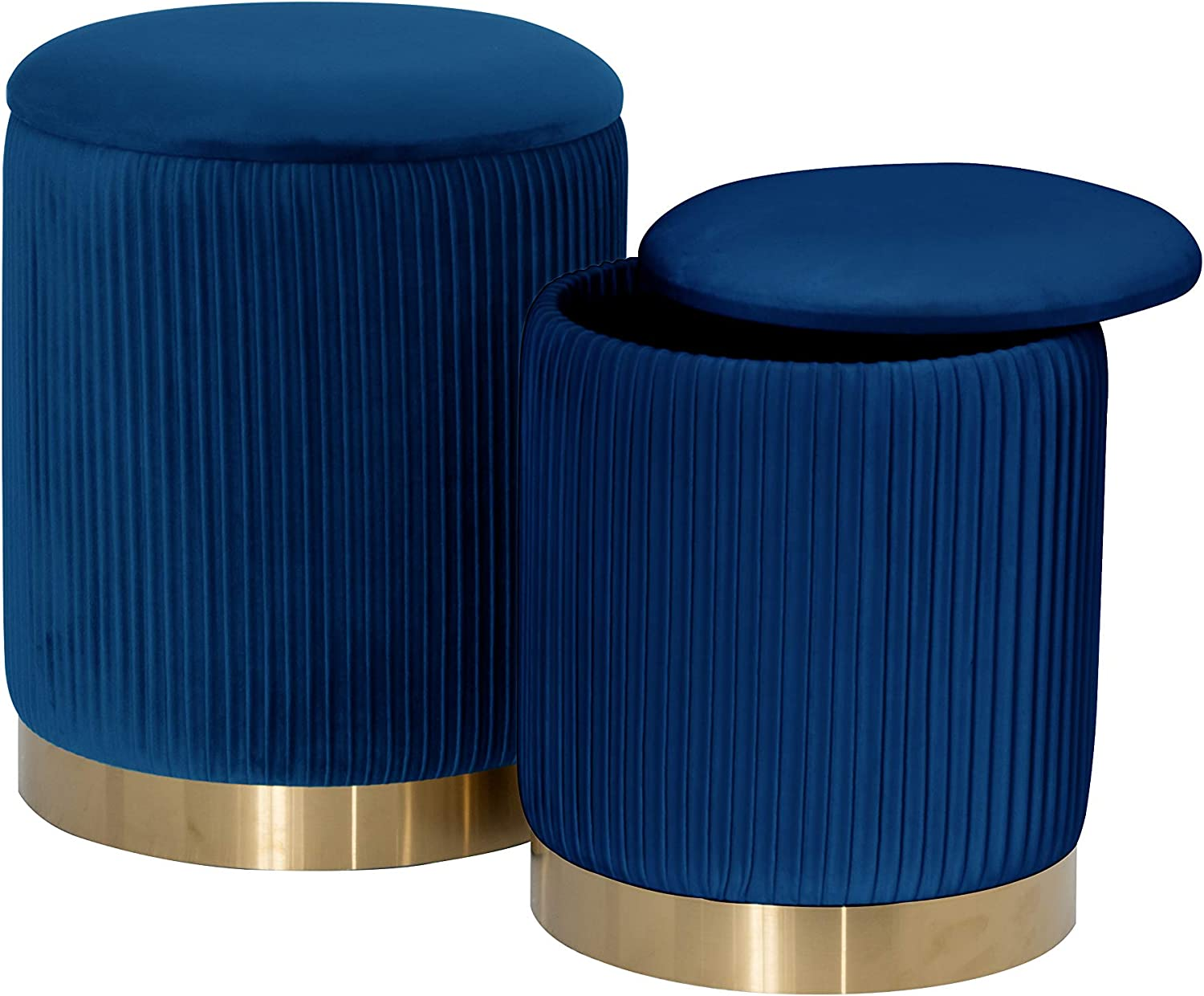 Max 44% OFF Best Quality Furniture Blue 40% OFF Cheap Sale Ottoman