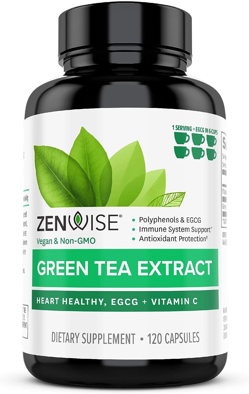 Zenwise Green Tea Extract with Antioxidant C - Vitamin EGCG Max unisex 62% OFF