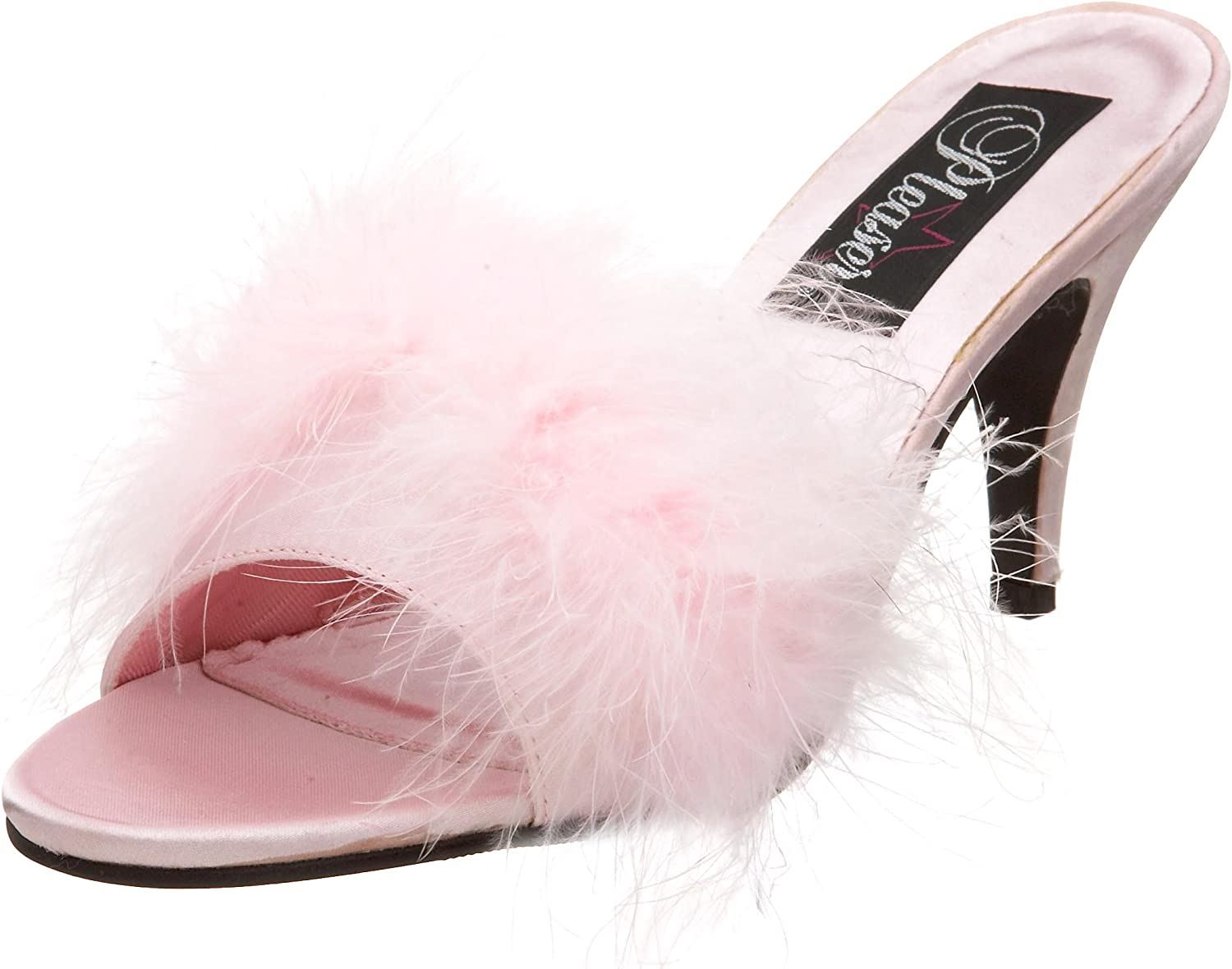 Pleaser Women's Amour-03 Sandal Baby Pink