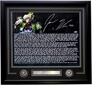 Jason Kelce Signed Framed 16x20 Eagles Super Bowl 52 Speech Transcript Photo Beckett