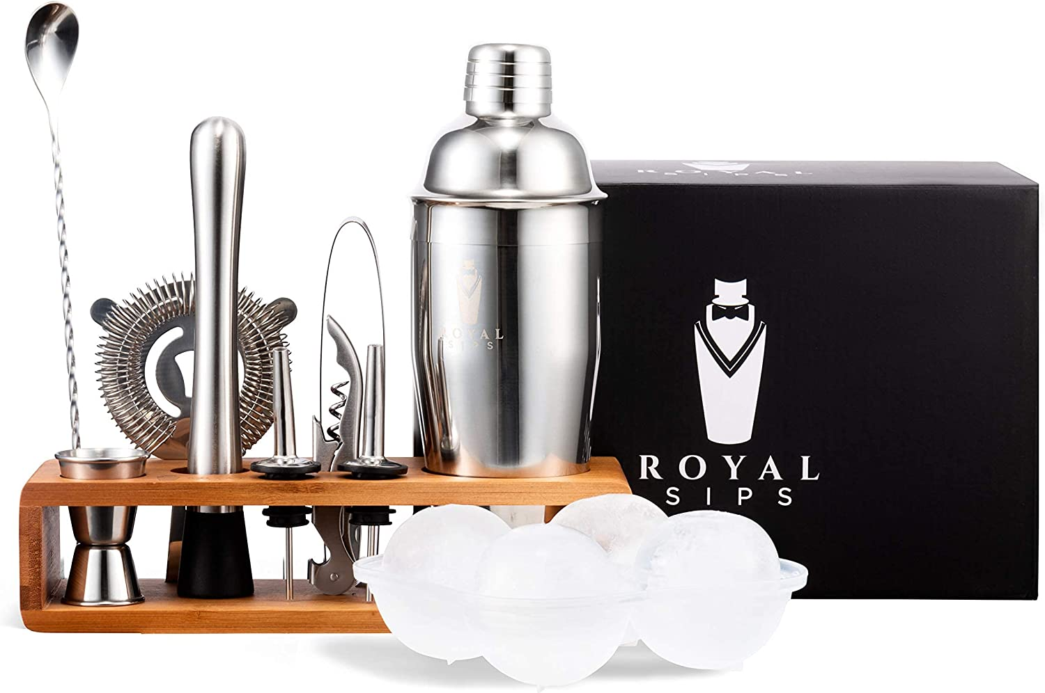 trend rank Royal Sips Premium Cocktail Shaker Set Ba Ice And Mold With Ball Challenge the lowest price
