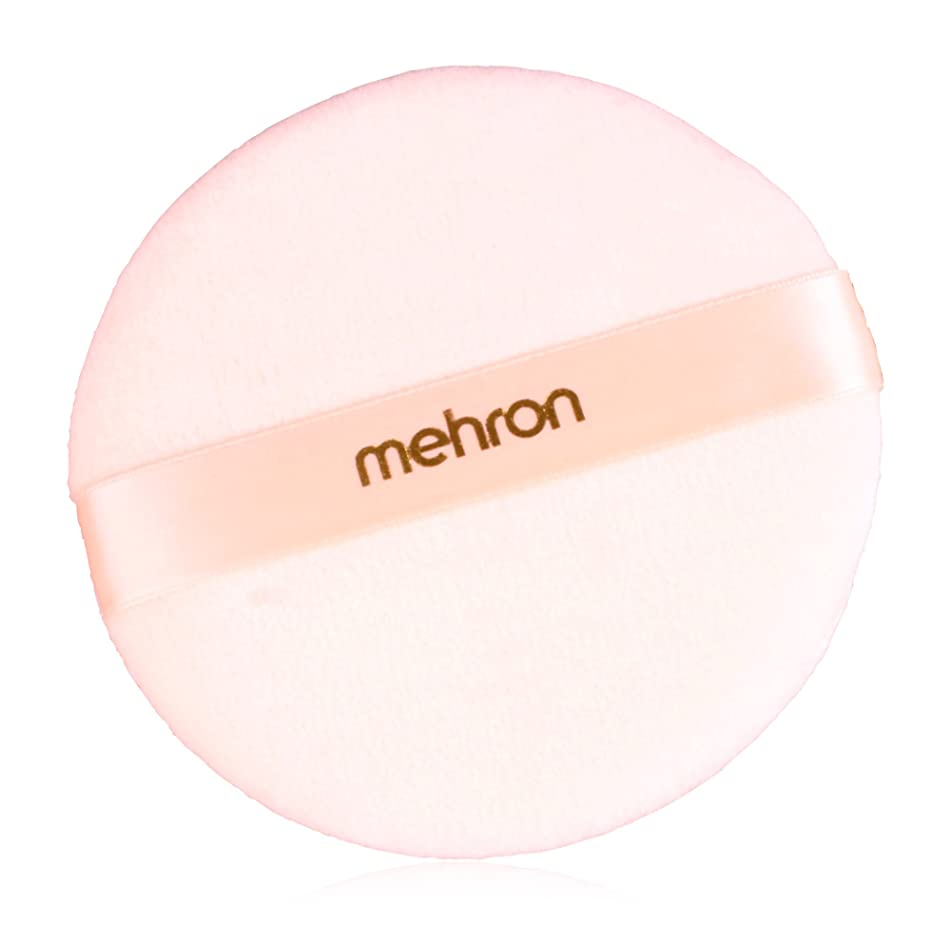 Mehron Makeup Round Professional Makeup Powder Puff, 4.75