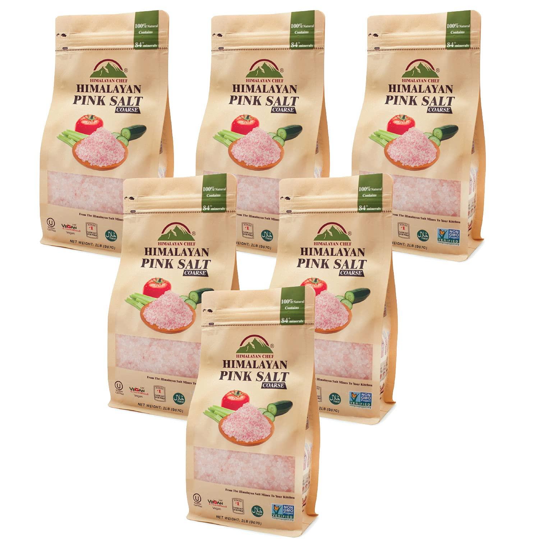 Himalayan Chef Pink Himalayan Salt, Coarse-2lbs/Each-6Pack