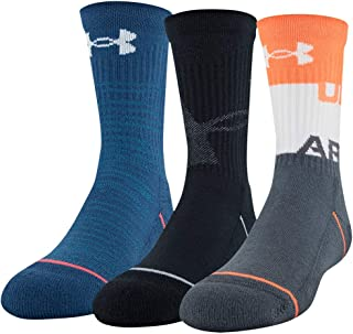 Under Armour Youth Phenom Crew Socks, 3-Pairs