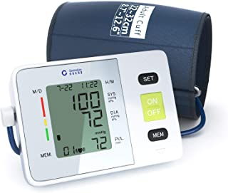 Clinical Automatic Upper Arm Blood Pressure Monitor - Accurate, FDA Approved - Adjustable Cuff,