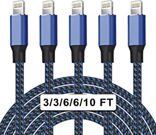 iPhone Charger Cable-5 Pack Compatible iPhone 12/11/XS/XR/X 8/SE 2020 More