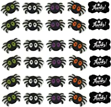 "24pk Itsy Bitsy Spider 1"" Edible Sugar Decoration Toppers for Cakes Cupcakes Cake Pops w. Edible Sparkle Flakes & Decorati..."