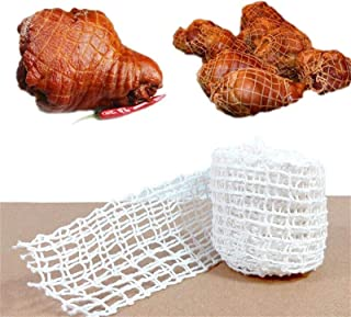 Chengstore Meat Netting Roll Elastic Ham Sock Meat,Cotton Smoked Meat Poultry Ham Netting Roll Wrapping Net Meat Tying Rol...