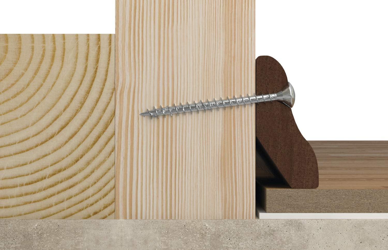 cincado fischer 670016 Caja de Tornillos para Madera Rosca Parcial 3x35