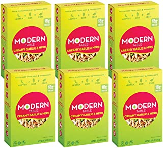 Modern Table Gluten Free, Complete Protein Lentil Pasta Meal Kit, Creamy Garlic & Herb, 6 Count