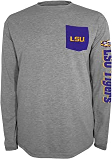 Knights Apparel LSU Tigers NCAA Champion Extra Point Men's L/S Pocket T-Shirt
