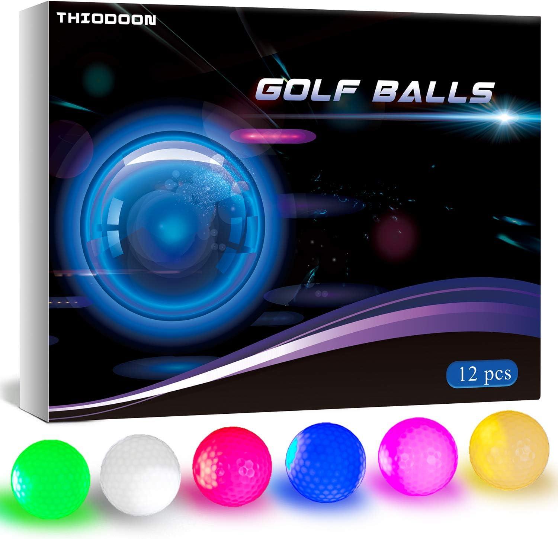 THIODOON Glow Dark Sale special price Golf Balls Sports Li 25% OFF for Night LED