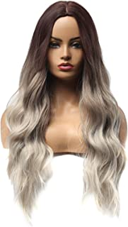 blusea LC179-5 Natural Full Wigs Long Wavy Wig Synthetic Fiber Wigs Heat Resistant Long Hairpiece for Women Wavy Curly Hai...